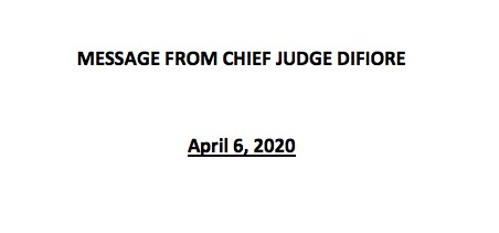 Message from Chief Judge DiFiore